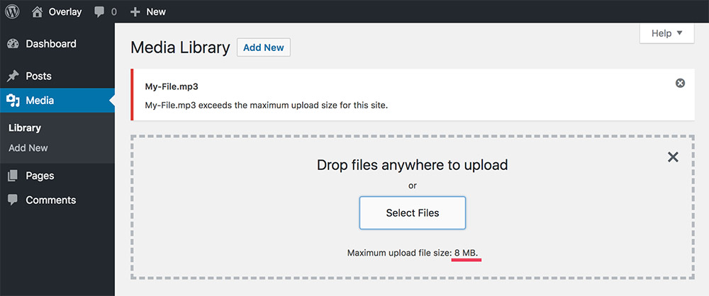 Increase the allowed File Upload Size