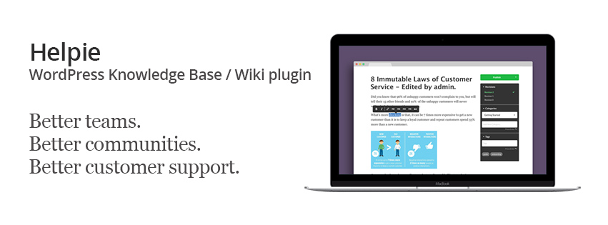 Helpie - knowledge base with WordPress