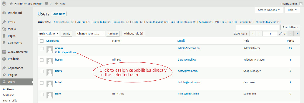 Helpie knowledge base with WordPress - users