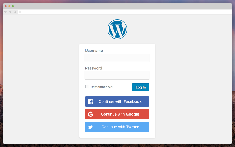WordPress - Social Login