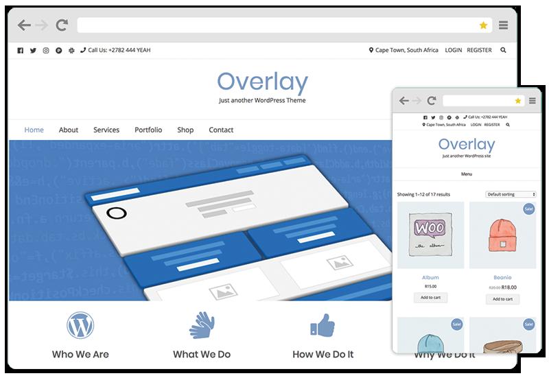 Overlay WordPress theme