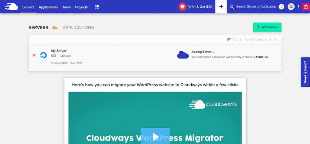 Cloudways Add a Server