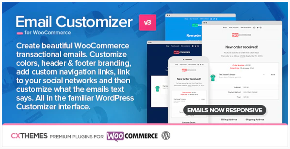 WooCommerce Plugins - Email Customizer