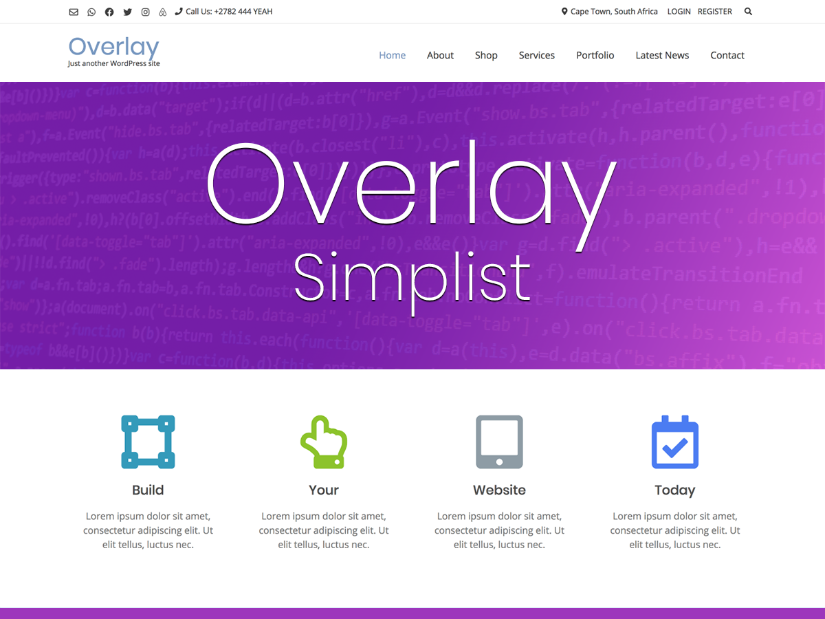 Overlay Child Theme - Simplist
