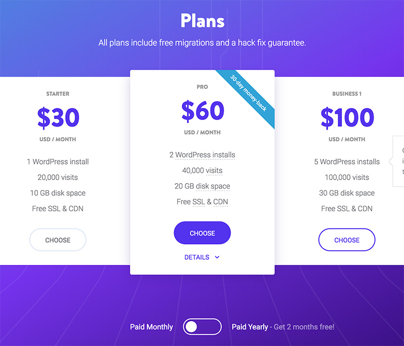 Whatever your needs, Kinsta has a WordPress hosting package for you.