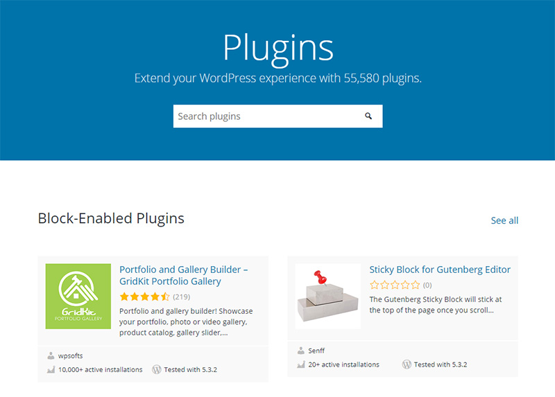In the WordPress VS Blogger debate, WordPress comes out tops in terms of the number of plugins available.