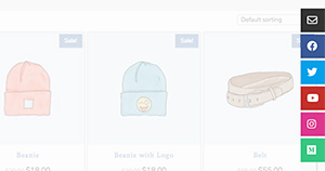 Customize Side Aligned Social Icons