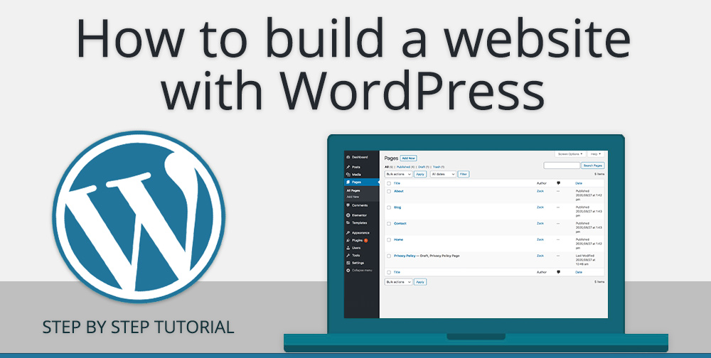 How to build a website with WordPress - Step by step free guide - 2020
