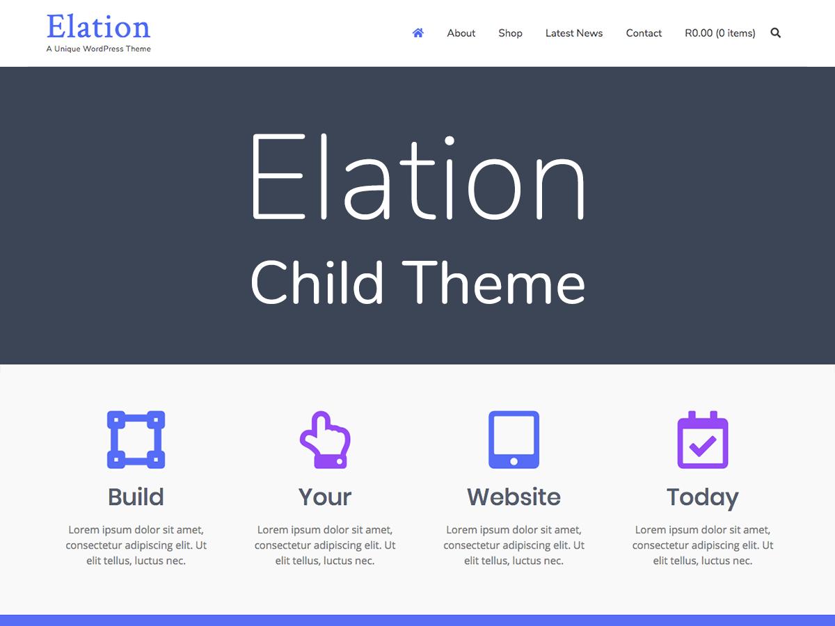 Elation - Child Theme