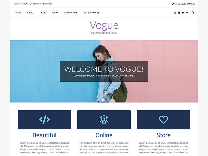Vogue Life: Child theme for Vogue Free WordPress Theme