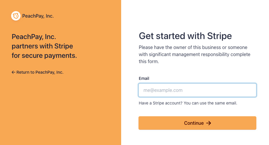 PeachPay for WooCommerce - Link your Stripe account